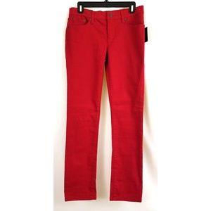 Ralph Lauren Size 4 Red Denim Jeans Straight Leg